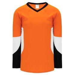 H6600 League Hockey Jersey - Orange/Black/White