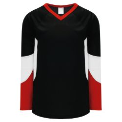 H6600 League Hockey Jersey - Black/Red/White