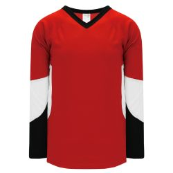 H6600 League Hockey Jersey - Red/Black/White