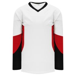 H6600 League Hockey Jersey - White/Black/Red