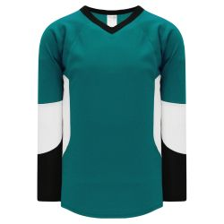 H6600 League Hockey Jersey - Pacific Teal/Black/White