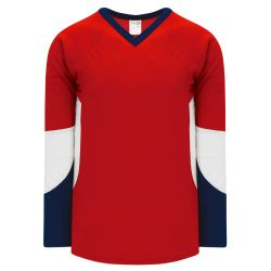 H6600 League Hockey Jersey - Red/Navy/White