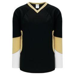 H6600 League Hockey Jersey - Black/Vegas/White