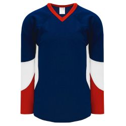 H6600 League Hockey Jersey - Navy/Red/White