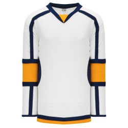 H7000 Select Hockey Jersey - White/Gold/Navy