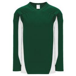 H7100 Select Hockey Jersey - Dark Green/White