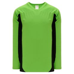 H7100 Select Hockey Jersey - Lime Green/Black