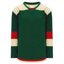 H7400 Select Hockey Jersey - Dark Green/Sand/Red