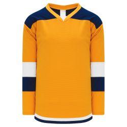 H7400 Select Hockey Jersey - Gold/Navy/White