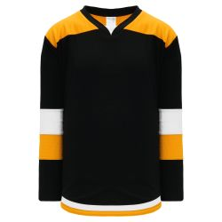 H7400 Select Hockey Jersey - Black/White/Gold
