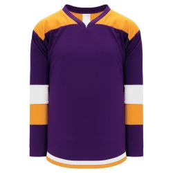H7400 Select Hockey Jersey - Purple/Gold/White