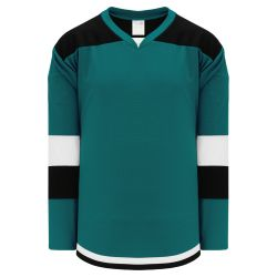 H7400 Select Hockey Jersey - Pacific Teal/Black/White
