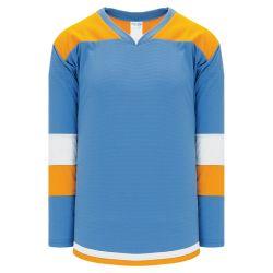 H7400 Select Hockey Jersey - Sky/Gold/White