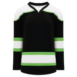 H7500 Select Hockey Jersey - Black/White/Lime Green