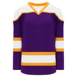 H7500 Select Hockey Jersey - Purple/Gold/White