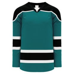 H7500 Select Hockey Jersey - Pacific Teal/Black/White