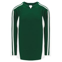 H7600 Select Hockey Jersey - Dark Green/White