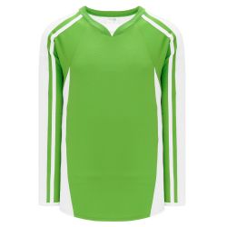 H7600 Select Hockey Jersey - Lime Green/White