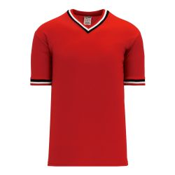 S1333 Soccer Jersey - Red/Black/White