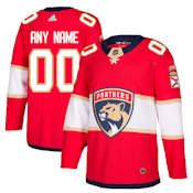 new style 2bf34 b0954 Pro Customized - ANY NAME - Adidas Authentic Florida Panthers Jersey - Home