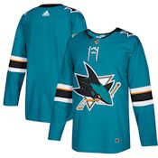 Adidas Authentic San Jose Sharks Jersey - Home