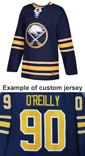 Pro Customized - ANY NAME - Adidas Authentic Buffalo Sabres Jersey - Home