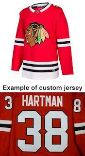 Pro Customized - ANY NAME - Adidas Authentic Chicago Blackhawks Jersey - Home