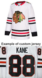 Pro Customized - ANY NAME - Adidas Authentic Chicago Blackhawks Jersey - Away