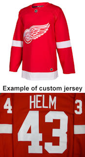 Pro Customized - ANY NAME - Adidas Authentic Detroit Red Wings Jersey - Home