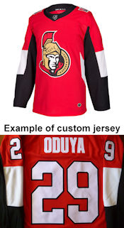 Pro Customized - ANY NAME - Adidas Authentic Ottawa Senators Jersey - Home