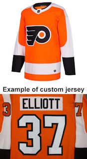 Pro Customized - ANY NAME - Adidas Authentic Philadelphia Flyers Jersey - Home