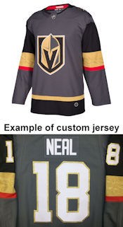 Pro Customized - ANY NAME - Adidas Authentic Vegas Golden Knights Jersey - Home
