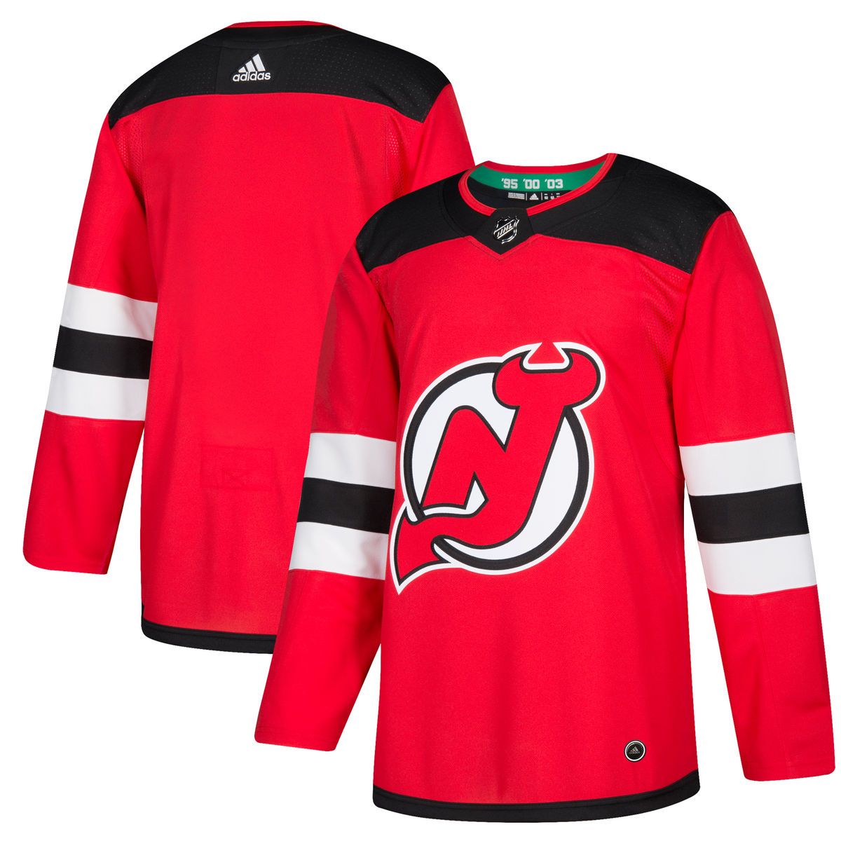 1b2664f65 Ships within 2 business days. OFFICIALLY LICENSED - New Jersey Devils Jersey  Home Adidas Authentic