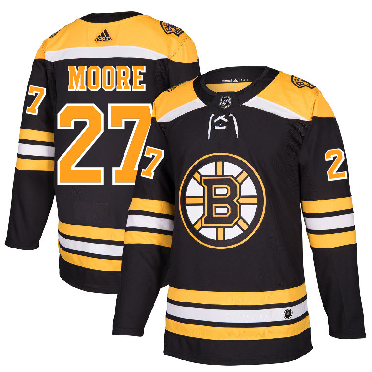 separation shoes 8af2b 4fe0d Details about #27 John Moore Jersey Boston Bruins Home Adidas Authentic