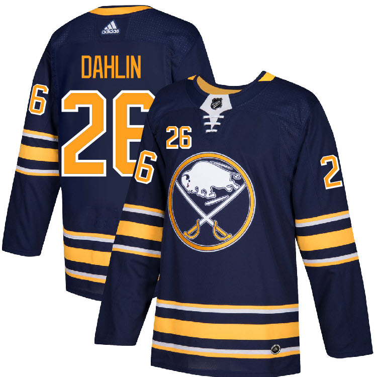 more photos 1c05a db1c9 Details about #26 Rasmus Dahlin Jersey Buffalo Sabres Home Adidas Authentic