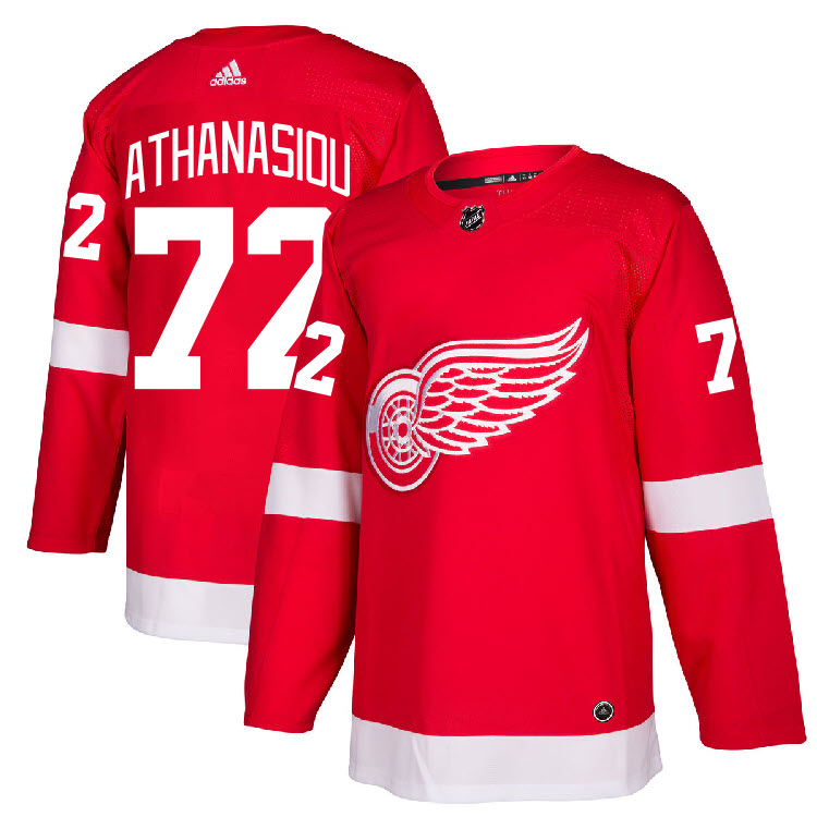 Details about  72 Andreas Athanasiou Jersey Detroit Red Wings Home Adidas  Authentic a037ec104