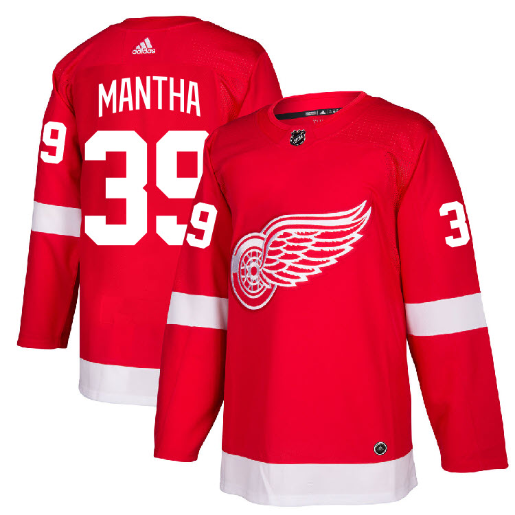 separation shoes 535bf 1dcca Details about #39 Anthony Mantha Jersey Detroit Red Wings Home Adidas  Authentic