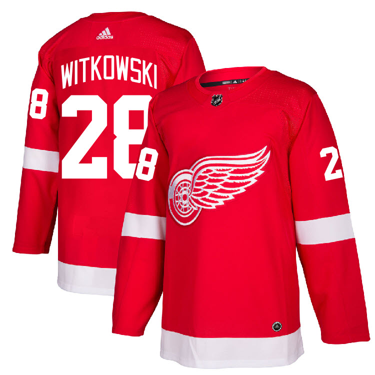 2f26b35b Details about #28 Luke Witkowski Jersey Detroit Red Wings Home Adidas  Authentic