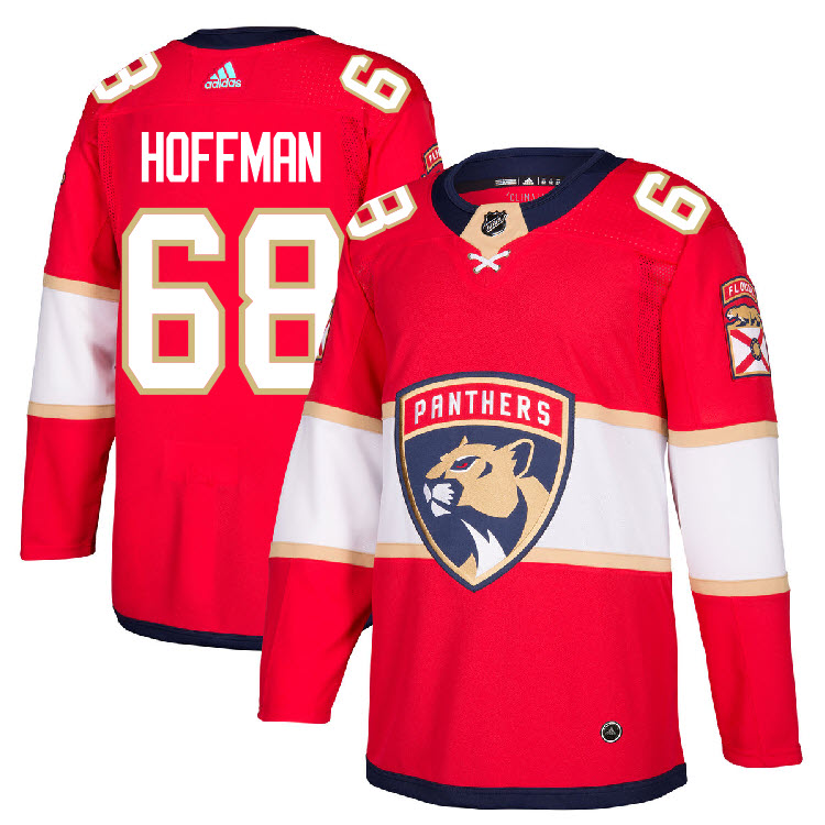 68 Mike Hoffman Jersey Florida Panthers Home Adidas Authentic  4dcb093fe