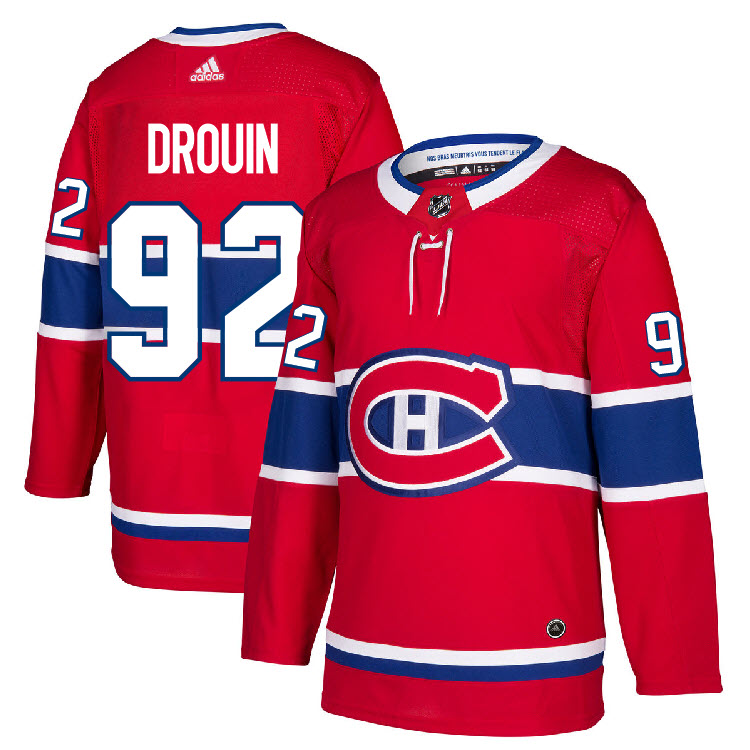 92 Jonathan Drouin Jersey Montreal Canadiens Home Adidas Authentic ... 95cc0ea0f