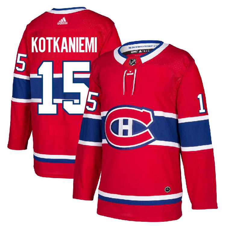 b7d1b0e352d 15 Jesperi Kotkaniemi Jersey Montreal Canadiens Home Adidas ...