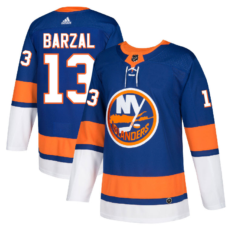 48a0b03fe Details about  13 Mathew Barzal Jersey New York Islanders Home Adidas  Authentic