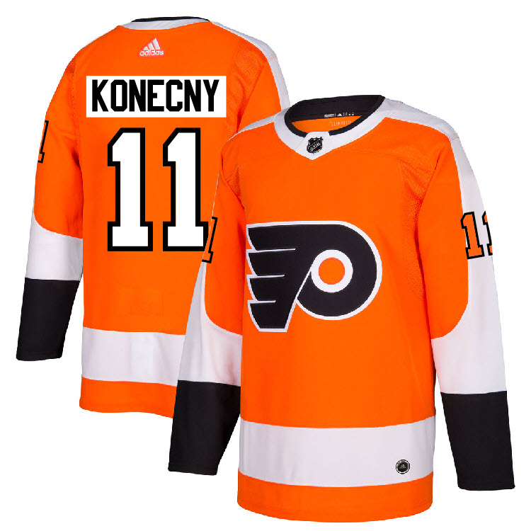 low priced e17b5 888db Details about #11 Travis Konecny Jersey Philadelphia Flyers Home Adidas  Authentic