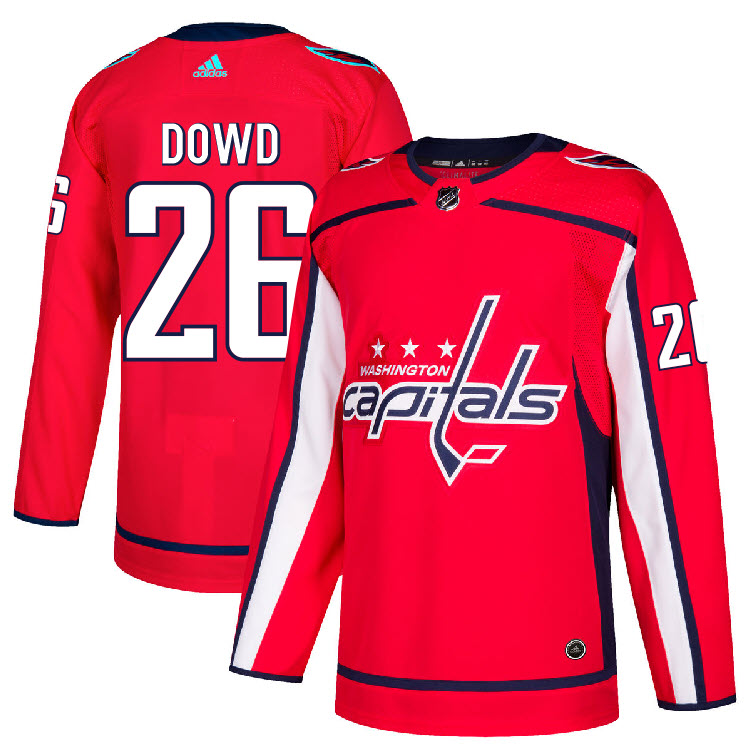 26 Nic Dowd Jersey Washington Capitals Home Adidas Authentic  ffbe4315d