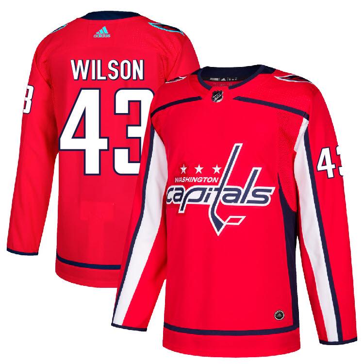 6a8b5a38e09 43 Tom Wilson Jersey Washington Capitals Home Adidas Authentic | eBay